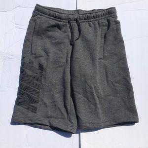 Grey Nike Swoosh Mens Cotton Shorts